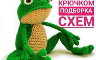 Амигуруми лягушка схема крючком видео