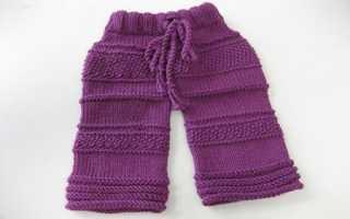 Вязание штанишек для новорожденных спицами видео
