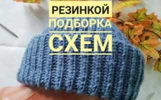 Вязание спицами шапки английской резинкой видео бесплатно
