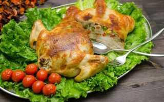 Фаршированная курица видео рецепт