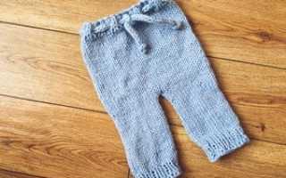 Вязать штанишки для новорожденных спицами видео