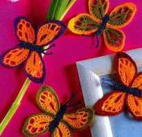 Бабочка крючком видео для начинающих мастер класс